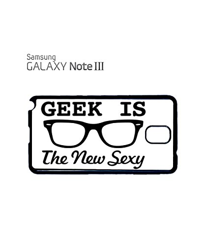 Geek Is The New Sexy Tumblr Facebook Twitter Instagram Mobile Phone Case Samsung Galaxy S3 Black Noir