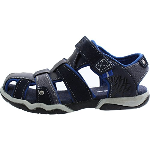 Timberland Park Hopper Fisherman Infant Navy Leather Flat Sandals Navy
