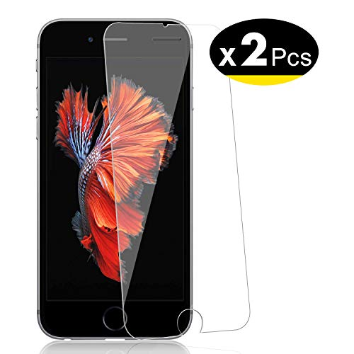 NEW'C Lot de 2, Verre Trempé pour iPhone 6, 6S (4.7'), Film...