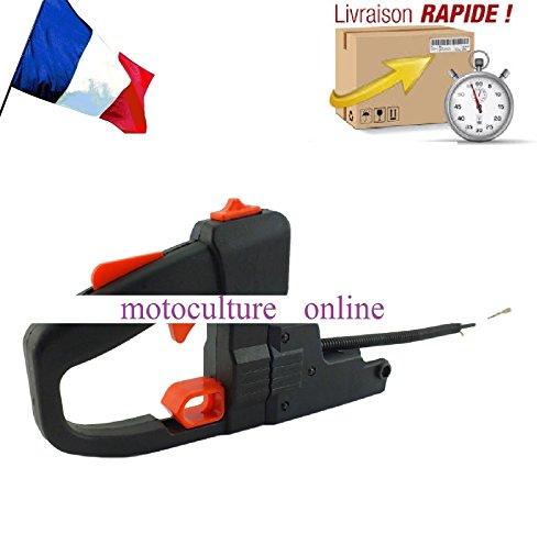 Poignée d'accélérateur orientable complète pour Taille Haie thermique ( pivotante à 180 °)