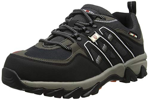 9bbc6215131 LARNMERN Mens Safety Trainers, Reflective Strip Steel Toe Cap Steel Midsole  Metal Work Shoes, Lightweight Breathable Industrial & Construction Shoes ...