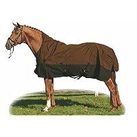 HKM Weidedecke -Highneck 600D- mit Fleecefutter, Rückenlänge 145 cm, hellbraun/dunkelbraun