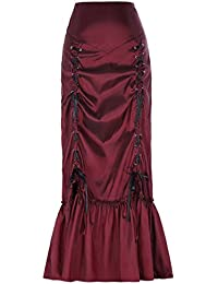 eeb26eae0c Belle Poque Women s Vintage Gothic Steampunk Victorian Style Long Ruched  Taffeta…