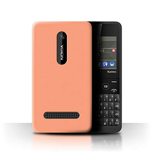Stuff4® Personalisiert Individuell Farbe Palette Hülle für Nokia Asha 210 / Leichter Lachs Orange Design/Initiale/Name/Text Schutzhülle/Case/Etui -
