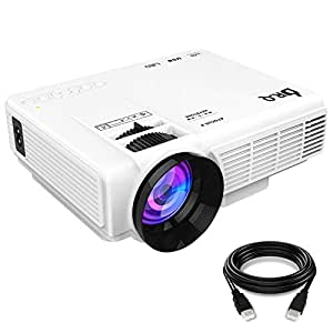 DR.Q Projector (Upgraded), Mini Projector, Video Projector with 170 Inch 1080P Support, 40000 Hours Lamp Life, Compatible with Fire TV Stick Game Console Chromecast PC Smartphone Tablet USB TF, White