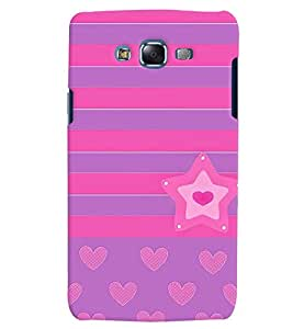 Citydreamz Pink/Purple/Hearts/Stars Hard Polycarbonate Designer Back Case Cover For Samsung Galaxy On7 Pro