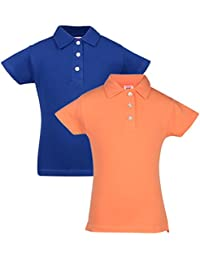 Lil Orchids Girls Pack of 2 Polo T-shirts (TC-2PCK-G-POLO-CMB17_Multi Color)
