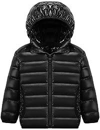 CHIC-CHIC Blouson Manteau Léger Enfant Garçon Fille Doudoune à Capuche - Veste à Manches Longues Sport bébé Ski Vêtement