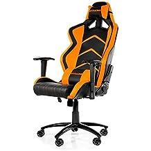 AKRacing Player-Silla para videojuegos para ordenador, color negro y naranja