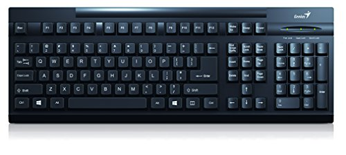 GENIUS KB-125 USB Schwarz Standardtastatur mit Windows Layout- full size Deutsches QWERTZ Layout Anschluss USB
