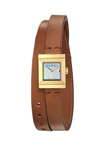 Gucci G Frame–Reloj de Pulsera analógico para Mujer Cuarzo Piel ya128521