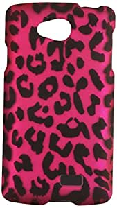 Zizo LG Tribute LS660 Rubberized Design Hard Snap-On Cover - Retail Packaging - Pink Leopard
