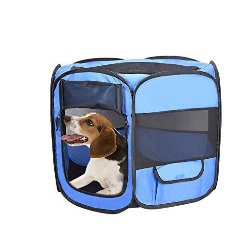 Rlorie Zaun für Haustiere, Tragbarer Autokäfig für Katzen und Hunde im Freien, wasserdichtes Oxford-Tuch, sechsseitiger Zaun für Haustiere, Tragetasche