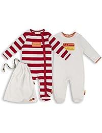 The Essential One - Unisex Baby Schlafanzuge/Schlafanzug/Einteiler/langarmeliger Body/ Strampler (2-er Pack mit Beutel) - ESS154