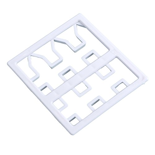 BESTONZON Kunststoff Ausstechformen Fondant Kuchen Teig Ausstecher DIY Backformen Dekoration Zaun (weiß)
