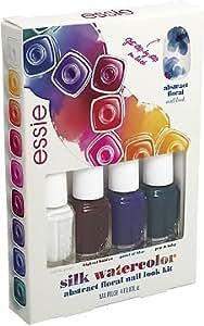 Essie Silk Watercolor Mini Kit de Vernis à Ongles Abstract Floral Nail Look Pièce de 4 x 5 ml