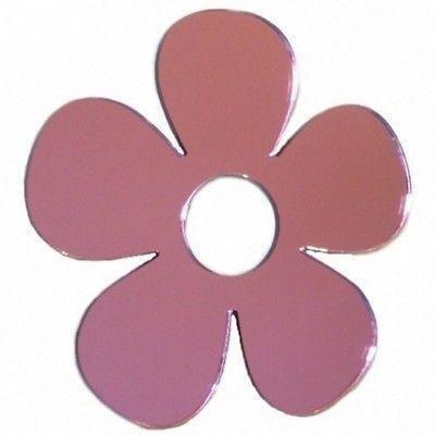 ServeWell Wandspiegel Gänseblümchen, Plastik, Mirrored Pink, 45 x 43 cm