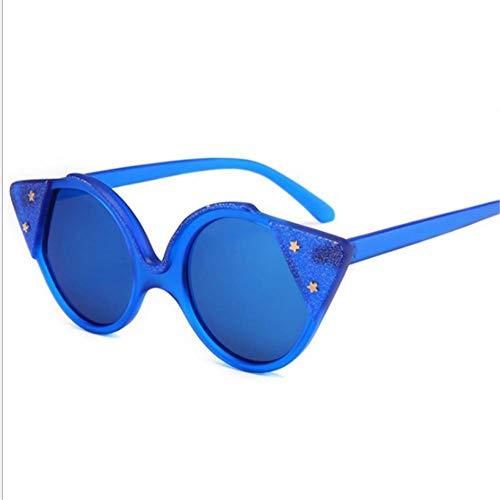 GAOHAITAO Women Cat Eye Sunglasses Fashion Designer Red Glasses Ladies Mirror Sun Glasses Uv400 Eyewear,Blue