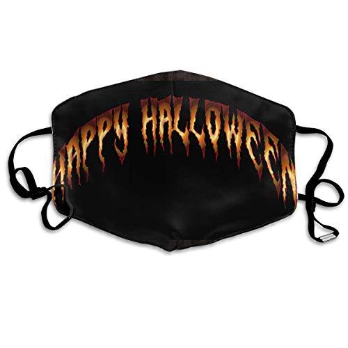 SDGSS Mund Maske,Happy Halloween Pattern Mund Maskes Unisex Fashion Warm Anti-Dust Washable Reusable Mund Maske