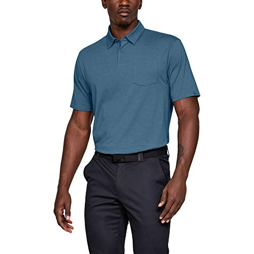 Under Armour Herren Poloshirt CC Scramble, Blau, LG, 1321111-407 - Lg Golf Shirt