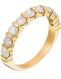 Orphelia Damen-Ring 750 Gelbgold Diamant (1 ct) weiß Rundschliff