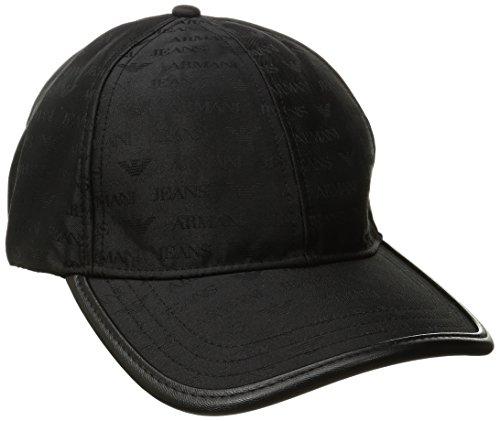 Cap Baseball Mütze, Schwarz (Nero 00020), One Size (Armani Mütze Hut)