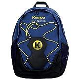 Kempa Rucksack dunkelblau mit Ballnetz für Handball, Volleyball 35 x 15 x 48 cm + Aufdruck Name