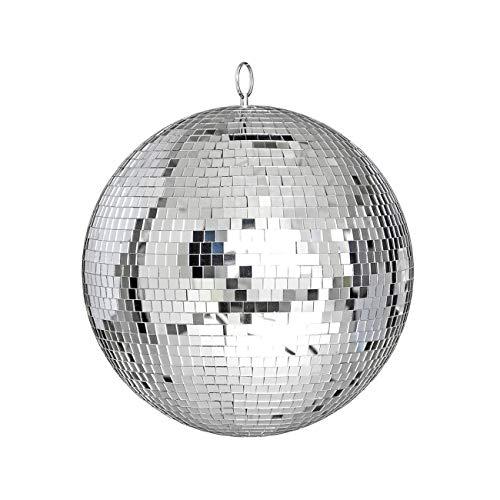 Fannty Spiegel-Disco-Kugel, Coole und lustige Silberne hängende Party-Disco-Kugel, 9,84-Zoll-Partydekorationen, Party-Design, Tanz und Musikfestivals
