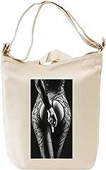 Idea Regalo - Sexy Babe Middle Finger Borsa Giornaliera Canvas Canvas Day Bag| 100% Premium Cotton Canvas| DTG Printing|