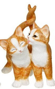 Pretty Ginger and White Intertwined Kittens Ornaments