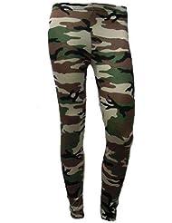 Les nouvelles dames Armée impression cheville Jambières de taille extensible de camouflage motifs Femmes 36-38
