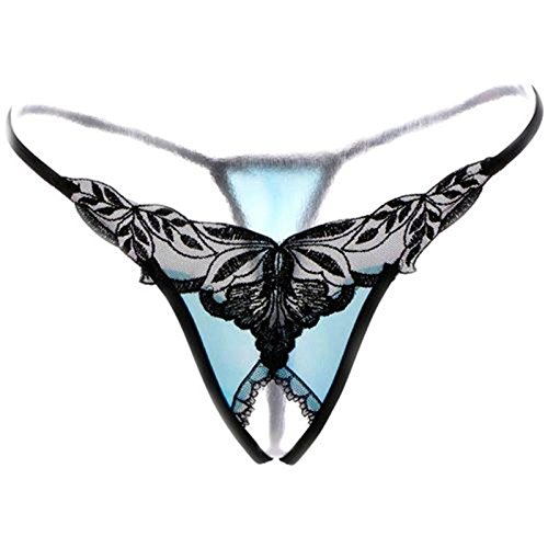 RRRRZ * biancheria intima sexy terrazza al lordo di pizzo stringa invece della piena trasparenza T pantaloni intimo tentazione di Nassau , codice , sono nero blu