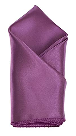 Single Silky Satin Plain Coloured Pocket Square/Hanky/Handkerchief - Formal Wedding Party Occasion Fashion *UK Seller* (Lavender )