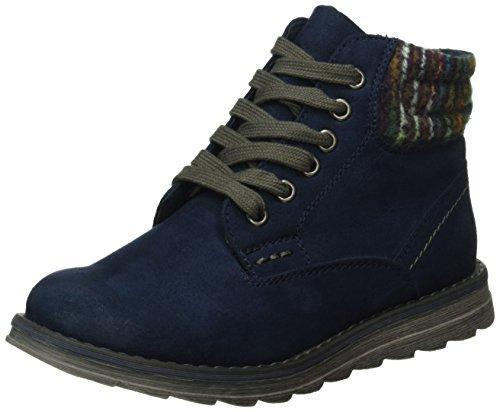 Boots Blau Mädchen (Marco Tozzi Cool Club Mädchen 46202 Combat Boots, Blau (Navy Antic Com 820), 37)