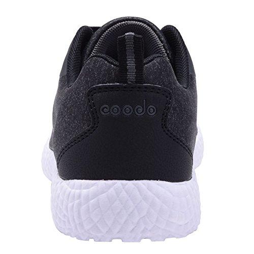 COODO , Damen Laufschuhe BLACK/WHITE (UK:3.5-9.5)