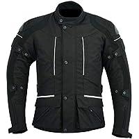 Sterling Sports® - Chaqueta de motociclista para hombre, color negro/gris, negro