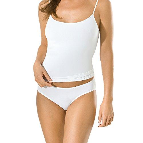 5er Pack UNWAGO Damen Hüftslips - Magic Hip Midislip Damen - Farbe Weiß, Schwarz, Skin - Größe 36 bis 44 Weiß