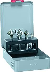 Alpes HSS Cobalt Fraise conique 90°,, DIN 335C, diamètre 10,4, 16,5, 20,5, 25mm comme de 4Bohrmax dans la cassette en métal, 229000004100