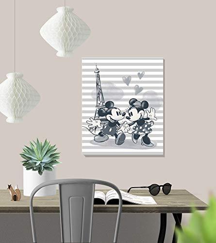 412Vd4eW5FL - Grupo Erik C30X40CM005 Erik C20X25Cm001 Cuadro Lienzo Canvas Disney Mickey & Minnie Torre Eiffel Parigi 30X40 Cm, Multicolor