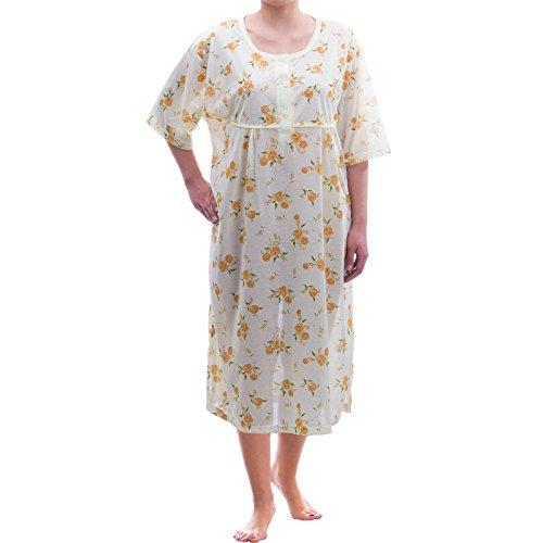 Lucky a maniche corte camicia da notte biancheria da fiori-grande Taglie 3X L 6X L Jersey Stampa notturna Gelb XXXXXXL