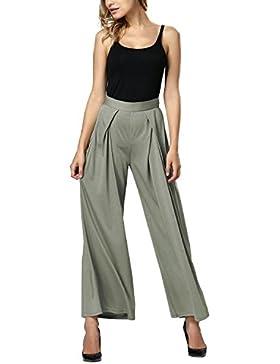 Gamiss Mujer Pantalones Anchos de Pierna Largo Pantalón Suave Fresco Yoga Fitness Deportes Tallas Grandes S -...