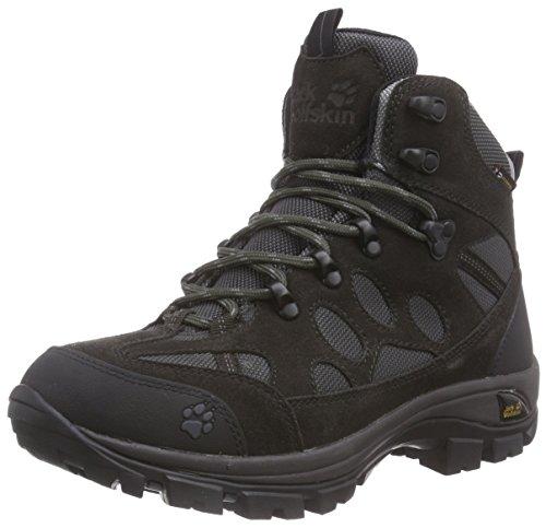 Jack Wolfskin ALL TERRAIN 7 TEXAPORE MID W, Damen Trekking- & Wanderstiefel, Grau (shadow black 6101), 38 EU (5 Damen UK)