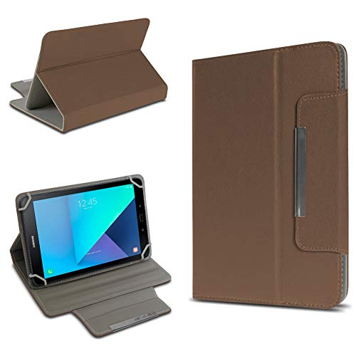 UC-Express Tablet Tasche kompatibel für Samsung Galaxy Tab Active 2 Hülle Tablet Schutzhülle Case Schutz Cover, Farben:Braun