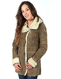 Veste en cuir marron clair Cappottino PN226D1873 hommes d'Aeronautica Militare
