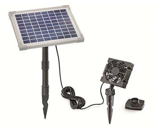 Solar Ventilador Juego freshair 5W Flujo de Aire Max. 90m3Ventilador 92x 92mm...