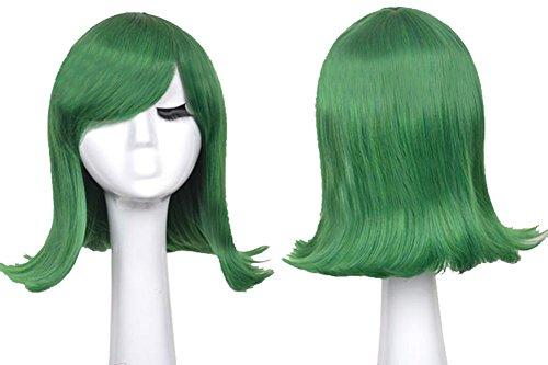 Xcoser Ekel Perücke Anime Cosplay Disgust Wig Disney Kurz Blau Warping Kostüm Haar (Out Kostüme Inside Erwachsene)