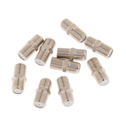 F-typ Koax-kabel (Almencla 10X RG6 RG59 F Typ Kupfer Buchse Zum Weiblichen Koaxial Koax Koppler)