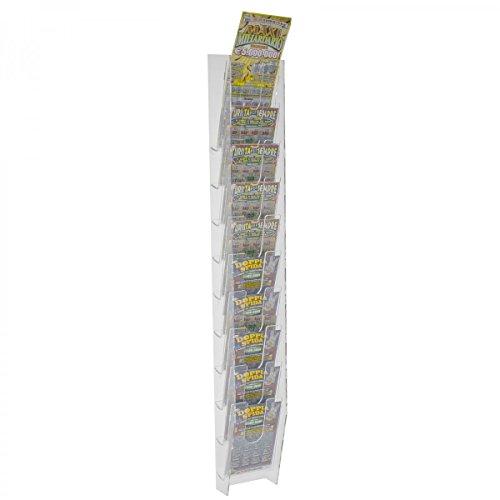 Avà srl espositore schedine e gratta e vinci da parete in plexiglass trasparente a 10 tasche - misure: 11 x 9 x h83 cm