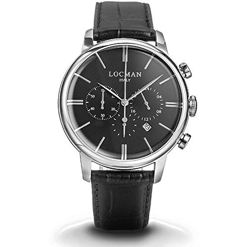 Montre chronographe Homme Locman 1960Casual Cod. 0254a01a-00bknkpk
