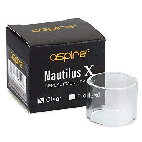 Authentische Aspire Nautilus X Ersatzglas (2ml, Glasig) Erhält Kein Nikotin
